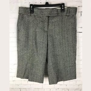 J. CREW SIZE 8 CITY FIT WOOL SHORTS BERMUDA GRAY